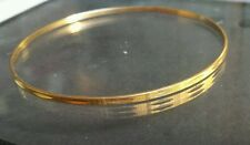 18k Yellow solid Gold BANGLE Bracelet