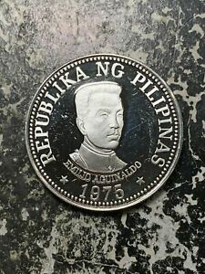 1975 Philippines 25 Piso Lot#Z6593 Large Silver Coin! Proof!