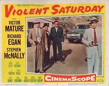 "Victor Mature Lee Marvin Violent Saturday Original 11x14"" Lobby Card LC19"