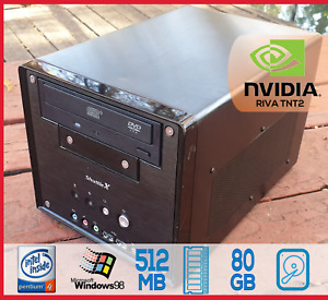 Shuttle Retro Pentium 4 512MB 80GB Windows 98 Win98SE NVIDIA RIVA TNT AGP Video