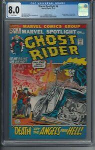 Ghost Rider (10/72) - Marvel Spotlight #6 - CGC 8.0