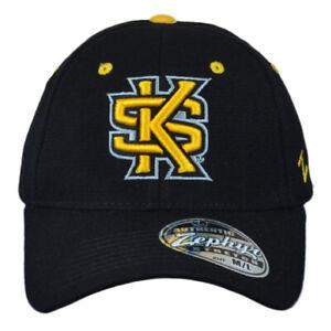 NCAA Zephyr  Kennesaw State Owls Black Flex Fit Stretch Medium Large Hat Cap