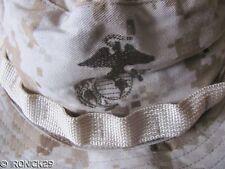 New USMC Camo Boonie Hat Cap Desert Digital Tan,EGA,Strap,  AUTHENTIC,  MEDIUM