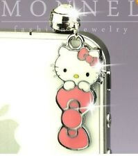 Hello Kitty Pink Bow Phone Charm Plug Anti-Dust