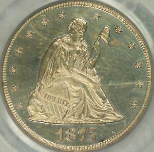 1875 Proof Twenty Cent Piece PCGS PR62CAM