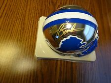 Barry Sanders Detroit Lions Signed Chrome Mini Helmet Schwartz Sports Autograph