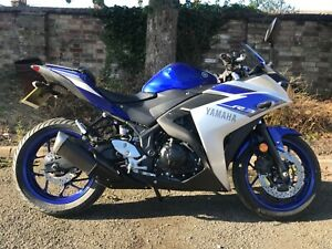 Yamaha R3 ABS Blue and Silver 2015 Low Mileage 3250 miles A2 licence compliant
