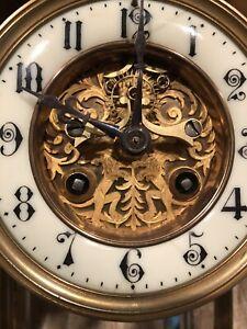 ANTIQUE FRENCH MARTI UNIQUE OPEN ESCAPEMENT CRYSTAL REGULATOR CLOCK
