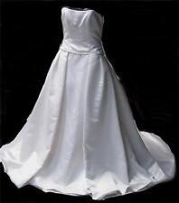 Barbara Allin Polyester Satin Strapless Wedding Dress with Train, GORGEOUS,  NEW