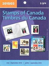 Stamps of Canada July to September 2010 Sealed Packet