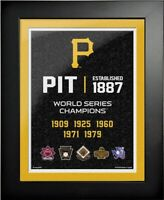 """Pittsburgh Pirates World Series Champions Photo (Size: 14"""" x 18"""") Framed"""