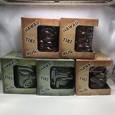 Set of 5 hawaiian tiki mugs