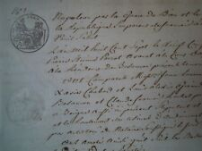 HELVÉTIE 1807 EMPIRE FRANÇAIS NAPOLEON BONAPARTE MANUSCRIT de DROIT JURA SUISSE!