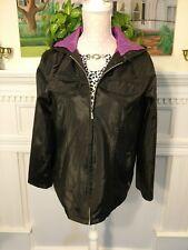 Hypo Active Women's M Jacket black hooded lined zip front