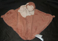 "Angel Dear Monkey Brown Tan Baby Boy Blankie Security Blanket Plush 16"" X 16"""