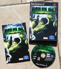 PS2 HULK (Sony PlayStation 2, 2003) Complete Disc Booklet and Case Video Game