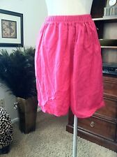 Vintage Wide Leg Pink Shorts/ Culottes With High Waist Styling