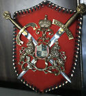 Vintage Medieval Coat of Arms Sword  Plaque Crest Wall Hanging Spain CC