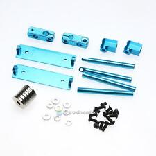 Aluminum Magnetic Invisible Body Post Mount Kit For 1/10 RC Car (Blue)