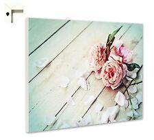 Magnettafel Pinnwand mit Motiv Natur Rosen weiß Shabby Chic