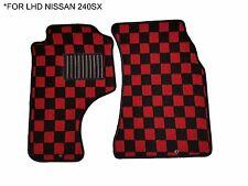 89-94 JDM Fabric Custom Fits Nissan 240sx S13 Floor Mats Interior Carpets LHD