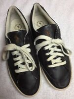 Polo Ralph Lauren Men's Dark Brown Leather Casual Shoes Lace Up Size 9 M a
