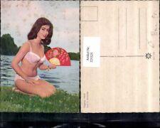225325,Schauspielerin Dagmar Hank im Bikini Fächer