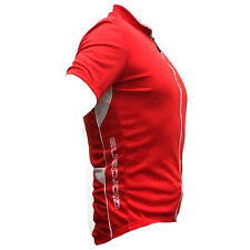 Giordana Solid Sport Short Sleeve Cycling Jersey - Red & White - Medium