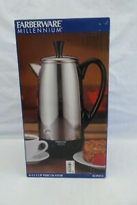 NOS Sealed Box Farberware Millennium FCP412 Stainless Steel Percolator 12-Cup