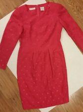 Liz Claiborne Petite 2 Vintage Polka Dot Scalloped Neck Dress
