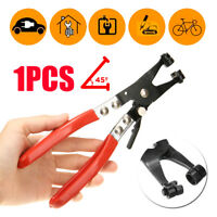 45° Rotated Jaw Locking Car Pipe Hose Clamp Pliers Fuel Coolant Clip Tool Kit