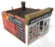Downtown Deco N Scale Lindsey's Grocery Classic Look! Great Signs! New Release!