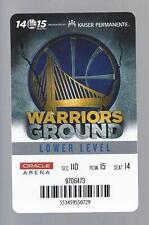 2014-2015 GOLDEN STATE WARRIORS SEASON TICKET HOLDER ID CARD NBA FINALS CHAMPS