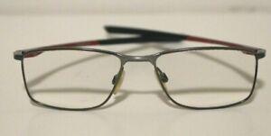 Oakley Socket 5 OX3217-0353 Satin Brushed Chrome Red Prescription Eyeglasses