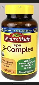 Nature Made Super B-Complex with Vitamin C Tablets Metabolic Health 140 Ct 07/22
