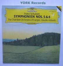 DG 423 654-1 - SCHUBERT - Symphonies No 5 & 6 ABBADO - Excellent Con LP Record