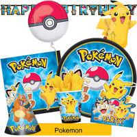 POKEMON Birthday Party Range - Tableware Balloons & Decorations {Amscan}