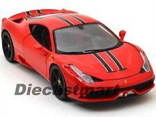 BBURAGO SIGNATURE 16903 1:18 FERRARI 458 SPECIALE RED DIECAST MODEL CAR ELITE