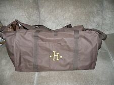Thirty-One Brown W/Embroidered H XXL Tote EUC HTF FREE USA SHIPPING