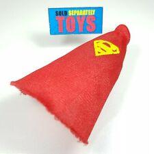 Vtg DC Comics Super Heroes 1989 Superman red CAPE Toy Biz ORIGINAL accessory