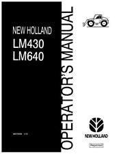 NEW HOLLAND LM430 LM640 TELEHANDLER OPERATOR`S MANUAL
