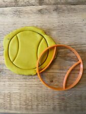Tennis Ball cookie cutter, sport biscuits icing cupcake topper