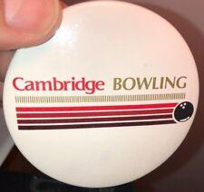 VINTAGE CAMBRIDGE BOWLING PIN BACK/BUTTON
