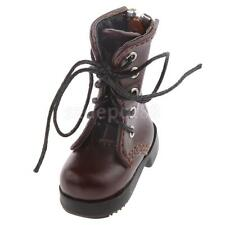 1/6 Scale Flat Ankle Boots Shoes For BJD Doll Clothing Accessories Coffee