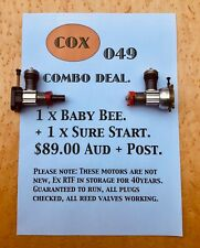 Vintage COX 049 Glow model aeroplane / airplane engines (x 2 ) ex RTF
