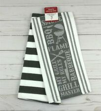 Kitchen Towel Dish Hand Set of 2 Grand Gourmet Grill Master BBQ Chef Cook