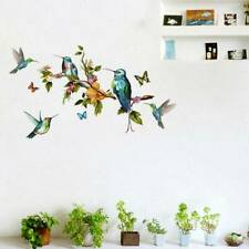 Flowers Butterfly Birds Wall Stickers Girls Bedroom Decorations Decals W