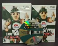 NCAA Football 09  - Nintendo Wii Wii U Game Complete - 1-4 player game -
