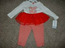 Carter's Baby Girls Merry Christmas Outfit Set Size 3 Months 3M 0-3 mos NWT NEW