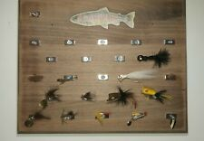 New listing Fishing vintage lot of lures, tackle, fly display